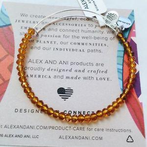 【送料無料】ブレスレット アクセサリ― アレックスビーズシルバービーズブレスレットalex and ani brilliance bead aurelia beaded bracelet in shiny silver nwt