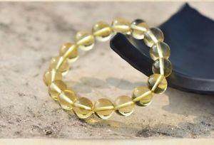【送料無料】ブレスレット アクセサリ― シトリンクォーツラウンドビーズブレスレットwhole 100 natural yellow citrine crystal quartz round bead bracelet 10mm
