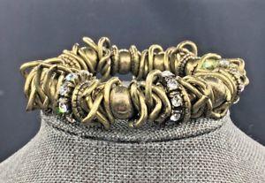 【送料無料】ブレスレット アクセサリ― ソフィアジプシーブレスレットストレッチlia sophia~retired~gypsy stretch bracelet nwt antiqued goldtone~last one~