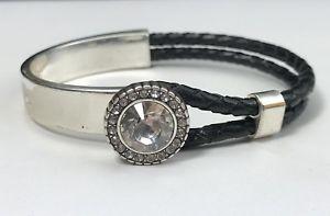 【送料無料】ブレスレット アクセサリ― ブライトンデミグランプリブレスレットレザーシルバースワロフスキークリスタルbrighton demi lune grand prix bracelet braided leather silver swarovski crystal
