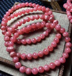 【送料無料】ブレスレット アクセサリ― ローズラウンドビーズブレスレットnatural rose rhodochrosite gemstone round beads rare love bracelet 6mm aaa