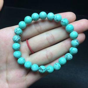 【送料無料】ブレスレット アクセサリ― ターコイズラウンドビーズブレスレットnatural turquoise jewelry quartz crystal round beads bracelet 78mm aaa