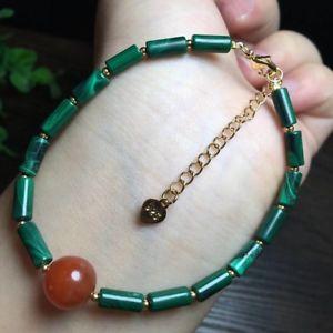 【送料無料】ブレスレット アクセサリ― マラカイトバレルビーズブレスレットgenuine natural chrysocolla malachite barrel beads woman bracelet 12x5mm aaaa