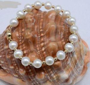 【送料無料】ブレスレット アクセサリ― イエローゴールドサウスシーパールブレスレットインチ14k yellow gold clasp with 109 mm white south sea pearl bracelet 758 inch