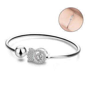 【送料無料】ブレスレット アクセサリ― スターリングシルバークラスタクラウンビーズブレスレットカフ925 sterling silver cluster cz crown bead bracelet open cuff for women girls mom