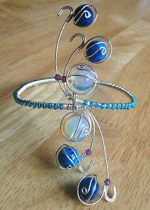 【送料無料】ブレスレット アクセサリ― ブレスレットライラックスワロフスキーhandmade adjustable upperarm bracelet blue moonstone lilac swarovski crystal