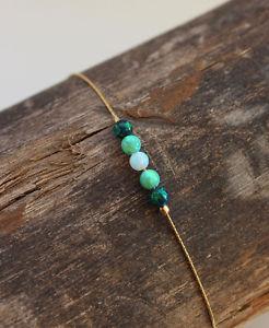 【送料無料】ブレスレット アクセサリ― オパール14k4mmボールround bead dainty bracelet 4mm ball green white opal 14k gold filled jewelry