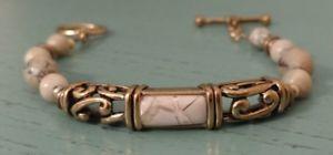 【送料無料】ブレスレット アクセサリ― ジャスパーブロンズトグルブレスレットbarse jasper and bronze toggle bracelet