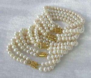 【送料無料】ブレスレット アクセサリ― 5pc 67mmホワイトakoyaブレスレット75whole 5pc 67mm white akoya cultured pearl bracelet 75