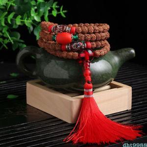 【送料無料】ブレスレット アクセサリ― キングレッドタッセルビーズブレスレットnatural five petals king kong bodhi red tassel 108 buddhism bead bracelet