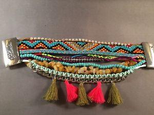 【送料無料】ブレスレット アクセサリ― flonaブレスレットmultiamp;plunder jewelry flona bracelet multicolored beads amp;tassels silver closure