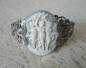 【送料無料】ブレスレット アクセサリ― トリプルカフブレスレットビクトリアtriple goddess cuff bracelet, wiccan pagan wicca witch witchcraft victorian
