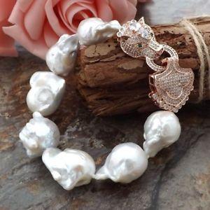 【送料無料】ブレスレット アクセサリ― ホワイトパールブレスレットge052511 9 white keshi pearl bracelet