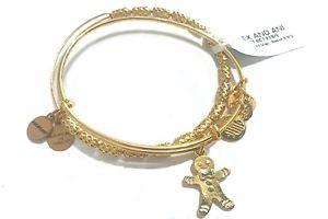 【送料無料】ブレスレット アクセサリ― アレックスマンビーズワイヤalex and ani gingerbreard man amp; beaded expandable wire braceletset of 2nwt