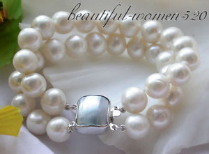 【送料無料】ブレスレット アクセサリ― z3574 2row 12mm8cultured pearl braceletz3574 2row 8 12mm white round cultured pearl bracelet