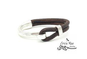 【送料無料】ブレスレット アクセサリ― カフブレスレットgenuine rustic leather cuff bracelet