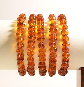 【送料無料】ブレスレット アクセサリ― ロット5バルトコニャックバロックc2279lot 5 whole genuine baltic amber bracelet cognac baroque beads c2279