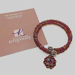 【送料無料】ブレスレット アクセサリ― アンkopikスワロフスキーラップブレスレットanne kopik swarovski crystal beaded wrap bracelet with flower charm friendship