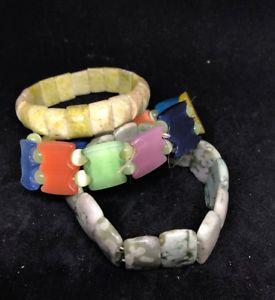 【送料無料】ブレスレット アクセサリ― 3 jb263listingvintageアジアガラスブレスレットロット listingvintage chinese asian glass bead stretchy bracelet peking lot of 3 jb263