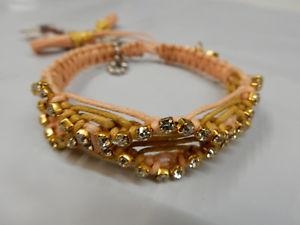 【送料無料】ブレスレット アクセサリ― バラゴンザレスブレスレットモモrose gonzales woven bracelet rb24 madeline peach