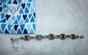 【送料無料】ブレスレット アクセサリ― ブライトンレジーナゴールドシルバーブレスレットポーチbrighton regina gold silver bracelet nwt amp; pouch jb3761
