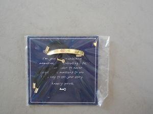 【送料無料】ブレスレット アクセサリ― アジャスタブルブレスレットkeep engraveable adjustable bracelet believe gold