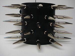 【送料無料】ブレスレット アクセサリ― スパイクブレスレットleather spiked bracelet death grind mdlb0213 burn victim