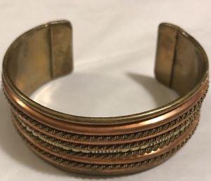 【送料無料】ブレスレット アクセサリ― カフスブレスレットmixed metals wide cuff bracelet brass copper