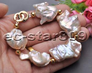 【送料無料】ブレスレット アクセサリ― ナチュラルピンクラベンダーバロックパールp5586 huge 100 natural 8 36mm pink lavender baroque keshi reborn pearl bracele