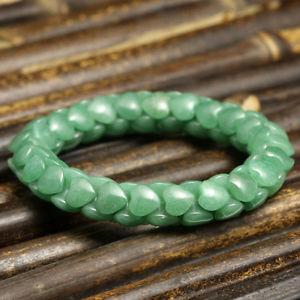 【送料無料】ブレスレット アクセサリ― ブレスレットハートチェーンビーズグリーンaventurine bracelet heart chained 8x10mm beads green natural crystal 180ct b500