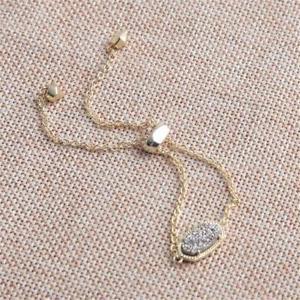 【送料無料】ブレスレット アクセサリ― スコットプラチナゴールドチェーンブレスレットkendra scott elaina gold adjustable chain bracelet in platinum drusy