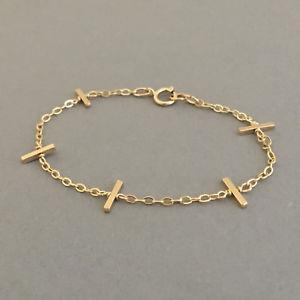 【送料無料】ブレスレット アクセサリ― バーブレスレットローズゴールドフィルスターリングシルバーfive bar bracelet available in gold fill, rose gold fill, and sterling silver