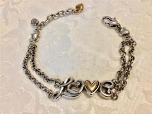 【送料無料】ブレスレット アクセサリ― ブライトンブレスレットメッキゴールドチェーンbrighton love child love bracelet silver plated and gold 2 chains