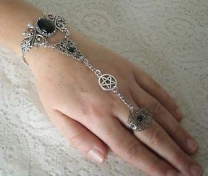 【送料無料】ブレスレット アクセサリ― ペンタクルスレーブブレスレットwiccanwiccapentacle slave bracelet wiccan pagan wicca witch pentagram witchcraft hand chain
