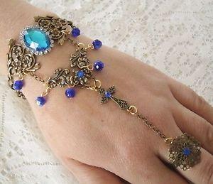 【送料無料】ブレスレット アクセサリ― スレーブブレスレットゴシックルネッサンスビクトリアアールヌーボーslave bracelet, gothic medieval renaissance victorian art nouveau hand chain