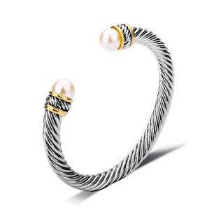 【送料無料】ブレスレット アクセサリ― ジェルマントライベカwomensブレスレットシルバーゴールドfree gift box st germain tribeca womens cable bracelet silver, gold, pearl free gift box