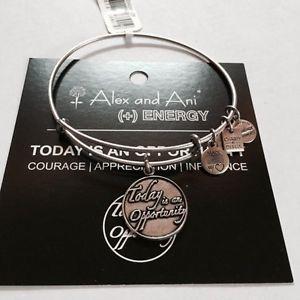【送料無料】ブレスレット アクセサリ― アレックスロシアブレスレットalex and ani today is an opportunity charm bracelet in russian silver nwt