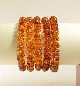 【送料無料】ブレスレット アクセサリ― バルトコニャックブレスレットロットlot of 5 whole genuine baltic amber cognac adult bracelet ta2170