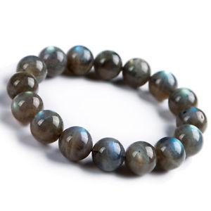 【送料無料】ブレスレット アクセサリ― クリスタルラウンドビーズブレスレットnatural labradorite rainbow light crystal round beads bracelet 12mm