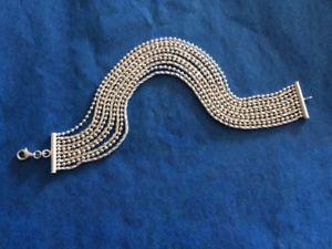 【送料無料】ブレスレット アクセサリ― スターリングシルバーストランドビーズロープチェーンブレスレットロブスタークラスプsterling silver 7 12 10 strand bead rope chain bracelet with lobster clasp