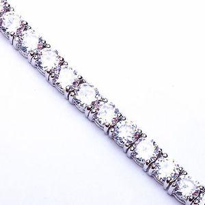 【送料無料】ブレスレット アクセサリ― イタリアンデザインスターリングシルバーブレスレット550ct four prong italian design cz 925 sterling silver bracelet 75