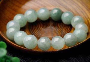 【送料無料】ブレスレット アクセサリ― ナチュラルビーズブレスレットperfect chinese 100 a grade natural jade jadeite bean beads bracelet