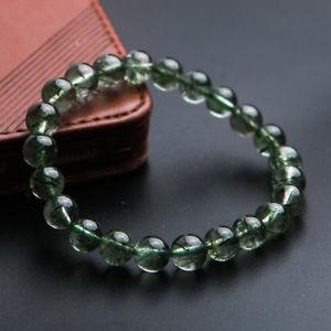 【送料無料】ブレスレット アクセサリ― ルチルラウンドビーズブレスレットストレッチ8mm natural green rutilated quartz crystal stretch round beads bracelet aaa