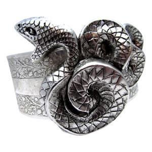 【送料無料】ブレスレット アクセサリ― カフスネークブレスレットエジプトリバイバルヘビカフシルバーsnake cuff serpent bracelet myelegantthings egyptian revival snakes cuff silver