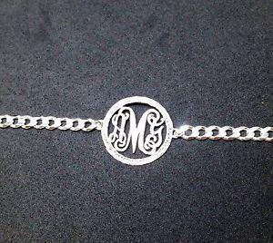 【送料無料】ブレスレット アクセサリ― パーソナライズモノグラムブレスレットスターリングシルバーブレスレットpersonalized monogram bracelet pure sterling silver 925 , any mongram bracelet ,