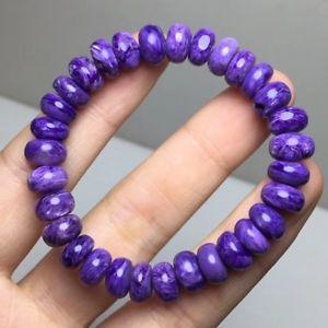 【送料無料】ブレスレット アクセサリ― ビードブレスレット85mm top quality natural purple charoite crystal gemstone beads bracelet aaa