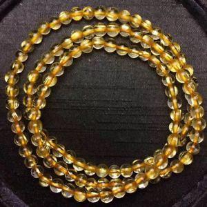 【送料無料】ブレスレット アクセサリ― ルチルチタンクリスタルビーズストレッチブレスレット48mm natural gold rutilated quartz titanium stretch crystal beads bracelet