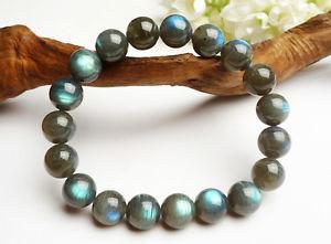【送料無料】ブレスレット アクセサリ― ラウンドビーズブレスレットnatural blue light labradorite round beads nice bracelet aaa 11mm
