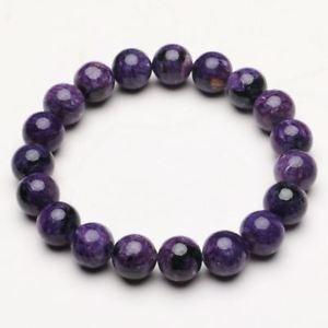 【送料無料】ブレスレット アクセサリ― クリスタルビーズブレスレットストレッチ103mm natural purple charoite crystal gemstone stretch beads bracelet zlbb048