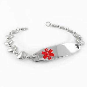 【送料無料】ブレスレット アクセサリ― ウィメンズプリペニシリンブレスレットmyiddr womens pre engraved penicillin allergy medical alert id bracelet